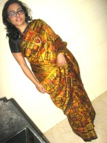 Ashmita of Chaotic Soul in Saree